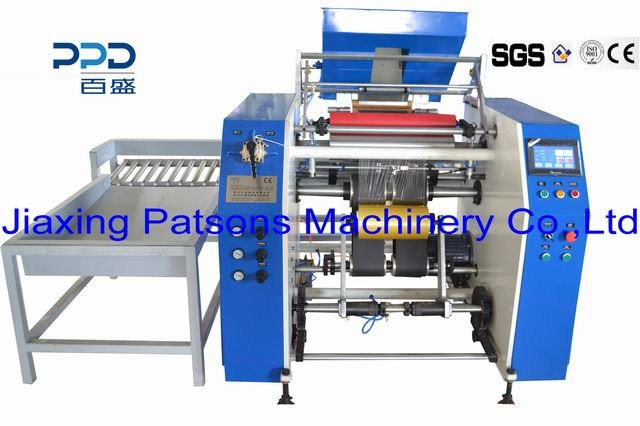 Fully automatic cling film rewinder machine