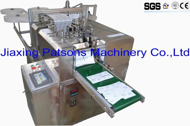 Fully auto alcohol prep pad packaging machine